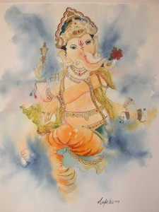 Happy Ganesha [sold]
